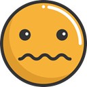 Smileys, emoticons, Emoji, scare, feelings Goldenrod icon