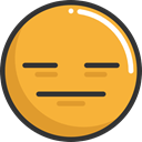 Serious, dissapointment, feelings, Smileys, emoticons, Emoji Goldenrod icon