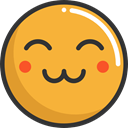 happy, cute, emoticons, Emoji, feelings, Smileys Goldenrod icon
