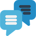 Multimedia, Chat, Communication, speech bubble, Conversation, Communications MediumTurquoise icon