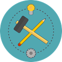 pencil, Build, Idea, Service CadetBlue icon