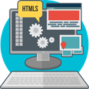 Computer, Code, Process, creative, technology, web development, html DimGray icon