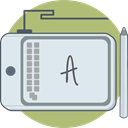 Computer, tools, drawing pad, prototyping Lavender icon