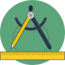 precision, ruler, Sketch MediumSeaGreen icon