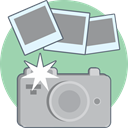 Camera, photo, photography, digital Silver icon