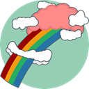 Color, Idea, Cloud, Imagine DarkGray icon