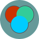 Idea, Design, Color balance CadetBlue icon