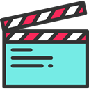 cinema, film, movie, Clapboard, Clapperboard, clapper, entertainment Aquamarine icon