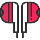 Headphones, technology, electronics, earphones, sound, Audio DarkSlateGray icon