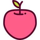 Apple, food, Fruit, organic, diet, vegetarian, vegan, Healthy Food, Food And Restaurant LightCoral icon