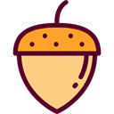 organic, vegetarian, vegan, Healthy Food, Food And Restaurant, food, Acorn Black icon