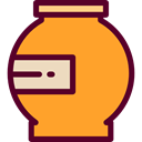 Jar, food, Fruit, Container, sweet, Jelly, marmalade, covered, Food And Restaurant Goldenrod icon