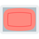 technology, electronics, Tv, monitor, screen, television Salmon icon