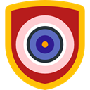 security, Protection, shield, weapons, defense Firebrick icon