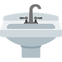 hygiene, Furniture And Household, water, Sink, wash, washing, bathroom Silver icon