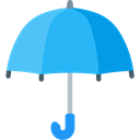 Umbrella, weather, Protection, Rain, rainy, Tools And Utensils, Umbrellas DodgerBlue icon