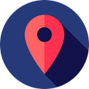 Map Point, Maps And Location, interface, pin, placeholder, signs, map pointer, Map Location MidnightBlue icon
