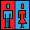Signaling, Humanpictos, Man, people, woman, bathroom, toilet, Toilets, signs, restroom DodgerBlue icon