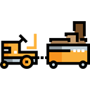 carrier, transportation, truck, transport, cargo Black icon