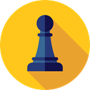 Game, chess, strategy, sport, Bishop, Sports And Competition, Seo And Web Gold icon