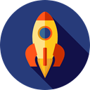 Rocket, transport, Space Ship, Seo And Web, Rocket Ship, Space Ship Launch, Rocket Launch DarkSlateBlue icon