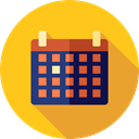 Calendar, time, date, Schedule, interface, Administration, Organization, Calendars, Time And Date Gold icon
