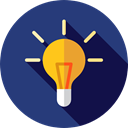 Light bulb, Idea, electricity, illumination, technology, invention, Seo And Web DarkSlateBlue icon