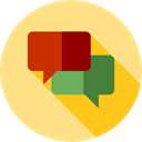 Multimedia, Chat, Communication, speech bubble, Conversation, Communications Khaki icon