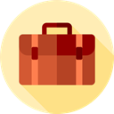 Business, Briefcase, Bag, suitcase, travel, portfolio Moccasin icon