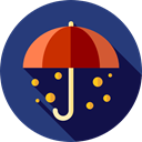 Tools And Utensils, Umbrellas, Umbrella, weather, Protection, Rain, rainy DarkSlateBlue icon