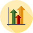 Bar chart, Profits, Seo And Web, Stats, Analytics, statistics, Business Moccasin icon