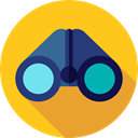 Binoculars, Eye, see, spy, Goggles, sight, Tools And Utensils, Seo And Web Gold icon