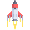 missile, Space Ship, Rocket Ship, Rocket Ship Launch, transport, technology Black icon