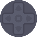 gaming, Direction, technology, gamer, game controller, directional, Game Console DimGray icon