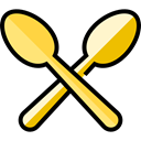 Food And Restaurant, food, Restaurant, spoon, Cutlery Black icon