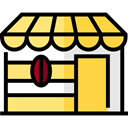 Business, store, buildings, Restaurant, Coffee Shop, Food And Restaurant Black icon