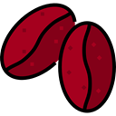 Coffee, food, Beans, seed, Coffee Grain, Food And Restaurant Maroon icon