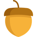food, Acorn, organic, vegetarian, vegan, Healthy Food, Food And Restaurant Goldenrod icon