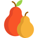 pear, vegetarian, vegan, Healthy Food, food, Fruit, diet, Food And Restaurant Goldenrod icon