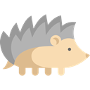 zoo, hedgehog, Animals, wildlife, Animal Kingdom DarkGray icon
