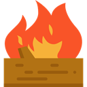 miscellaneous, Log, wooden, wood, nature, Burning, fireplace Tomato icon