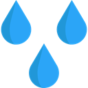 weather, Rain, drop, water, Teardrop, raindrop DodgerBlue icon