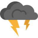weather, Rain, nature, Storm, thunder, sky, meteorology DimGray icon