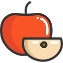 Apple, food, Fruit, organic, diet, vegetarian, vegan, Healthy Food, Food And Restaurant Tomato icon