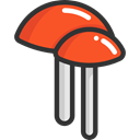 food, Mushroom, nature, Mushrooms, Fungi, Muscaria, Food And Restaurant Black icon