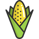Food And Restaurant, food, organic, diet, vegetarian, Cereal, vegan, corn, Healthy Food Black icon