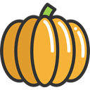 food, Fruit, pumpkin, organic, diet, vegetarian, vegan, Healthy Food, Food And Restaurant Goldenrod icon