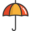 rainy, Tools And Utensils, Umbrellas, Umbrella, weather, Protection, Rain Black icon