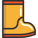 Rain Boots, rainy, fashion, footwear, raining, Boot Goldenrod icon