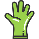 safety, Protection, glove, fashion, Furniture And Household YellowGreen icon